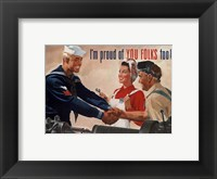 Framed 1944 Jon Whitcomb US Navy