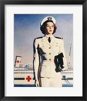 Framed Navy Nurse