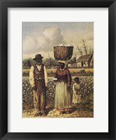 Framed Cotton Picker Family