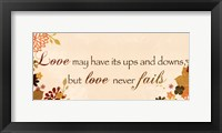 Love Has its Ups and Downs Framed Print