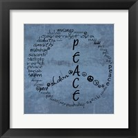 Peace Sign Framed Print
