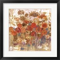 Framed Floral Frenzy II - orange