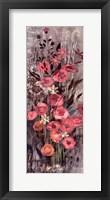 Framed Pink Floral Frenzy IV