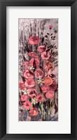 Framed Pink Floral Frenzy III