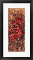 Framed Floral Frenzy Red III