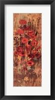 Framed Floral Frenzy Red IV