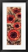 Floral Frenzy Red I Framed Print