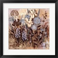 Framed Floral Frenzy Blue IV