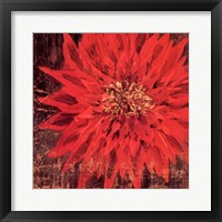 Framed Floral Frenzy Red III - square