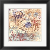 Framed Floral Frenzy Coastal II
