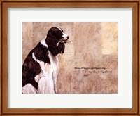 Framed Pretty Good Dog