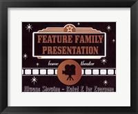 Feature Presentation Framed Print