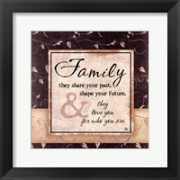 Framed Family They Share Your Past