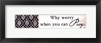 Why Worry Framed Print