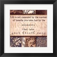 Moments - square Framed Print