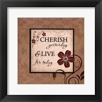 Cherish Yesterday Framed Print