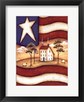 Framed Folk Flag