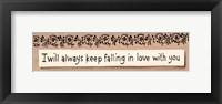 Framed Always Keep Falling