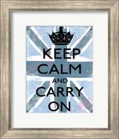 Framed Keep Calm And Carry On 4