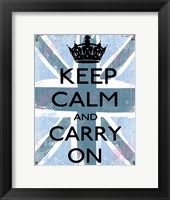 Framed Keep Calm And Carry On 4