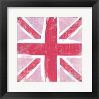 Framed Union Jack Pink
