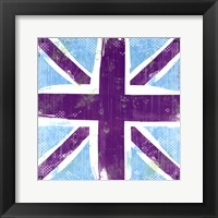 Framed Union Jack Purple And Blue