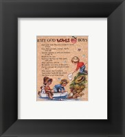 Why God Loves Little Boys Framed Print