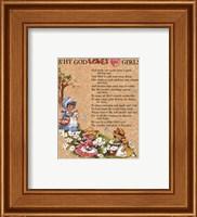 Framed Why God loves Little Girls
