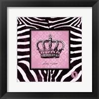 Zebra Crown I Framed Print