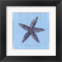 Framed Starfish - Blue