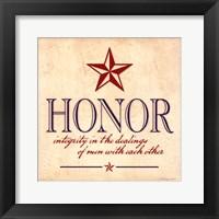 Framed Honor