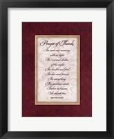 Prayer of Thanks Framed Print