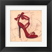 Framed Fashionista Red Heel