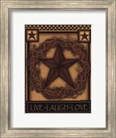 Framed Live, Laugh, Love Star
