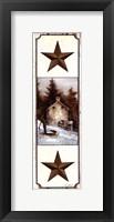 Framed Barn Star Simplicity I