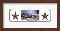 Framed Barn Star Simplicity II