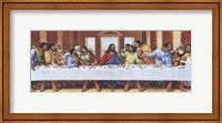 Framed Black Last Supper
