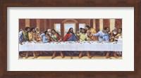 Framed Black Last Supper