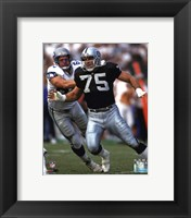 Framed Howie Long 1992 Action