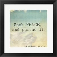 Framed Seek Peace