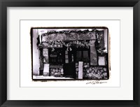 Cafe Charm, Paris II Framed Print