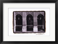 Parisian Archways III Framed Print