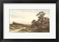 Where Heather Vies with Crimson Sky Framed Print