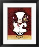 Framed Chef Vino