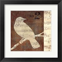 Bird Silhouettes I Framed Print