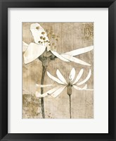 Pencil Floral II Framed Print