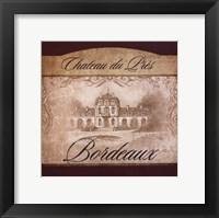 Wine Label II Framed Print
