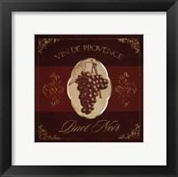 Framed Wine Label IV