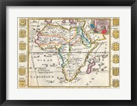 Framed 1710 De La Feuille Map of Africa