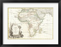 Framed 1762 Janvier Map of Africa